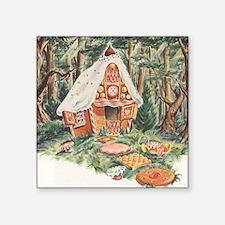 "Vintage Hansel and Gretel Square Sticker 3"" x 3"""