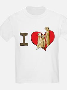 I heart meerkats Kids T-Shirt