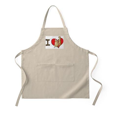 I heart meerkats BBQ Apron