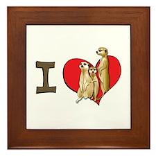 I heart meerkats Framed Tile