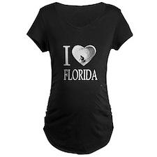 I Love Florida Maternity T-Shirt