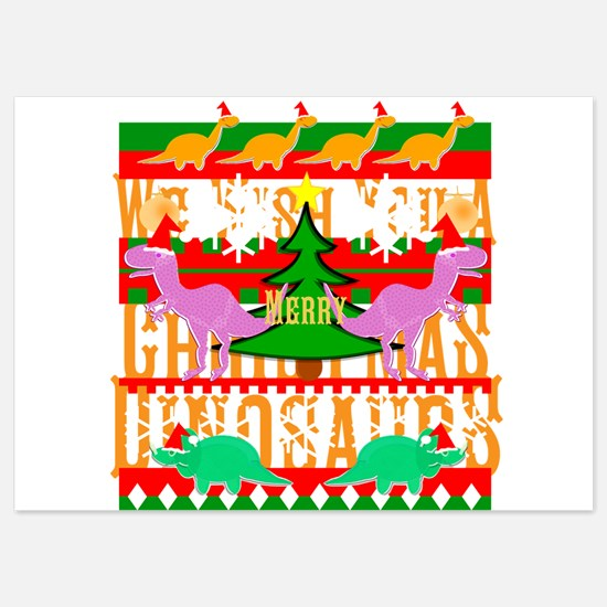 Ugly Christmas Sweater Dinosaurs Invitations
