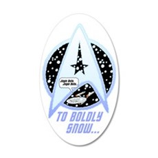 To Boldly Snow Wall Sticker