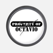 Property of Octavio Wall Clock