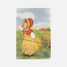 Vintage Nursery Rhyme Rectangle Magnet