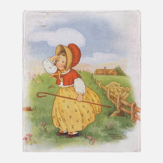 Vintage Nursery Rhyme Throw Blanket
