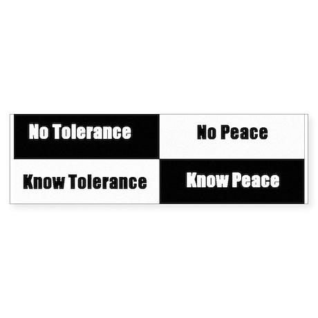 Tolerance & Peace Bumper Sticker