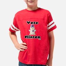 VoteClintonHuggableVotingChic Youth Football Shirt