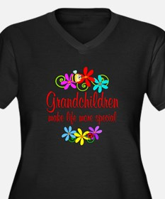 Special Grandchildren Women's Plus Size V-Neck Dar