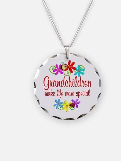 Special Grandchildren Necklace Circle Charm