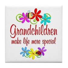 Special Grandchildren Tile Coaster