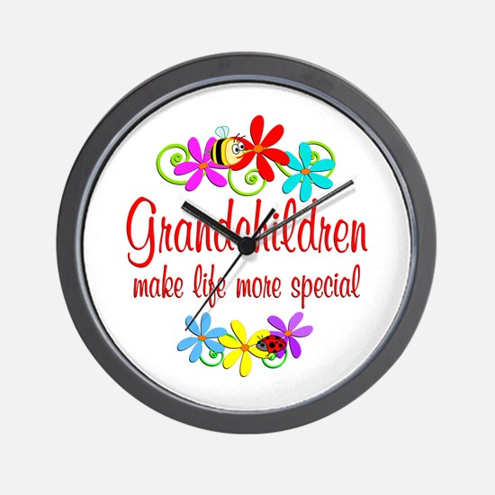 Special Grandchildren Wall Clock