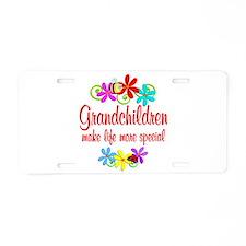 Special Grandchildren Aluminum License Plate