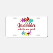 Special Grandchildren Aluminum License Plate