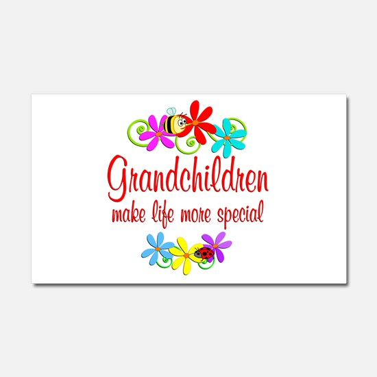 Special Grandchildren Car Magnet 20 x 12