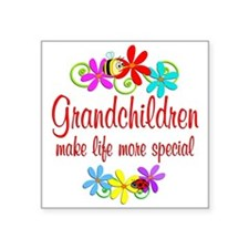 "Special Grandchildren Square Sticker 3"" x 3"""