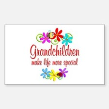 Special Grandchildren Sticker (Rectangle)