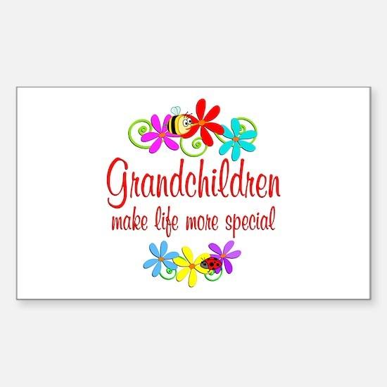 Special Grandchildren Sticker (Rectangle)