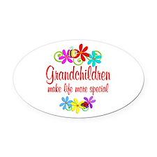 Special Grandchildren Oval Car Magnet