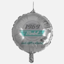 1969 Birthday Vintage Chrome Balloon
