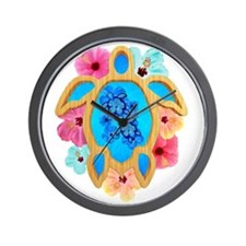 Hawaiian Blue Honu Wall Clock
