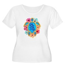 Hawaiian Blue Honu Plus Size T-Shirt
