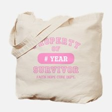 Property Of Survivor Personalized Tote Bag