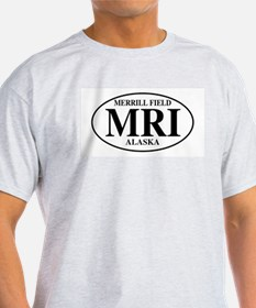 Anchorage Merrill Field Ash Grey T-Shirt