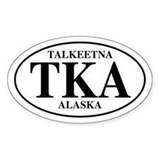 Talkeetna Oval Decal