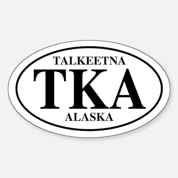 Talkeetna Oval Decal
