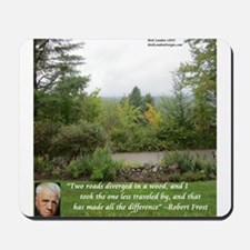 Robert Frost And Quote Mousepad