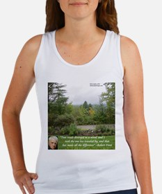 Robert Frost And Quote Tank Top