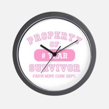 Property Of Survivor Personalized Wall Clock
