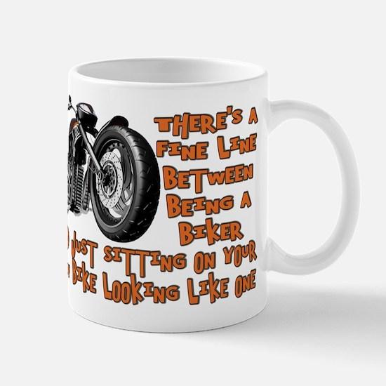 Biker Fine Line Mug