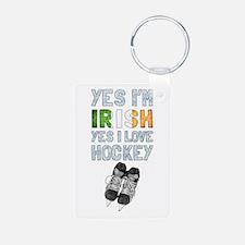 Yes Im Irish, Yes I love Hockey Keychains