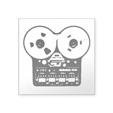 "Reel To Reel Square Sticker 3"" x 3"""