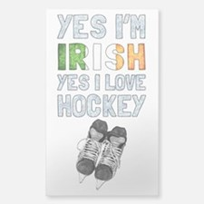 Yes Im Irish, Yes I love Hockey Decal