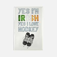 Yes Im Irish, Yes I love Hockey Magnets