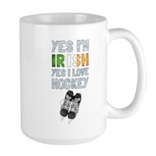 Yes Im Irish, Yes I love Hockey Mugs