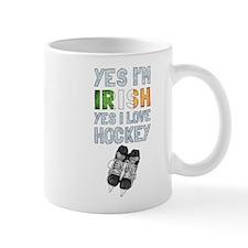 Yes Im Irish, Yes I love Hockey Mugs