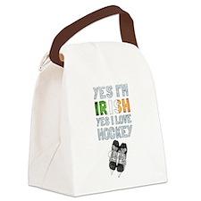 Yes Im Irish, Yes I love Hockey Canvas Lunch Bag