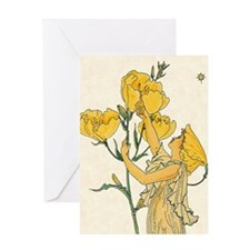 Evening Primrose by Walter Crane Greeting Card
