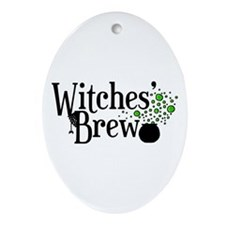 'Witches' Brew' Ornament (Oval)