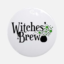 'Witches' Brew' Ornament (Round)