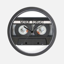 Never Forget Tape Cassette Wall Clock