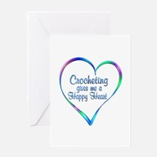 Crocheting Happy Heart Greeting Cards