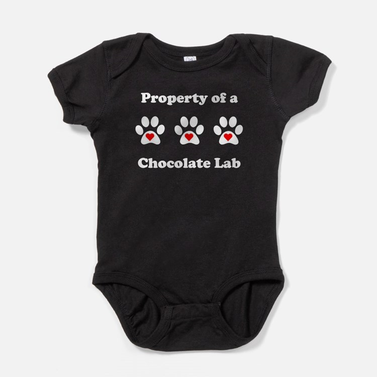 Property Of A Chocolate Lab Baby Bodysuit