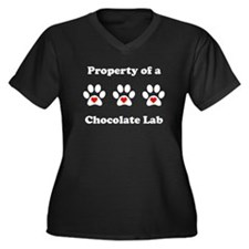 Property Of A Chocolate Lab Plus Size T-Shirt