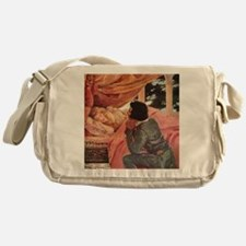 Vintage Sleeping Beauty Messenger Bag
