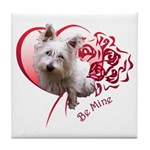 Valentine Terrier Tile Coaster
